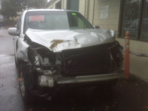 Some lady ran a stop sign and totaled my car :(