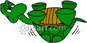 Cartoon_Turtle_On_Its_Back_Royalty_Free_Clipart_Picture_090122-130053-220048