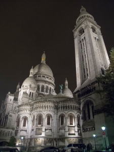 La Basilique du Sacré Coeur at night