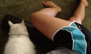 Skyler likes to help me roll