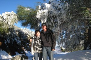 Mt. Diablo in December, before we were dating (he asked me out in January)