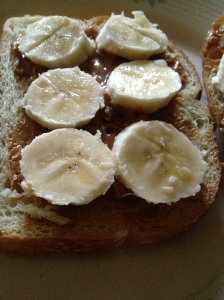 Elvis Toast- sourdough bread, peanut butter, bananas