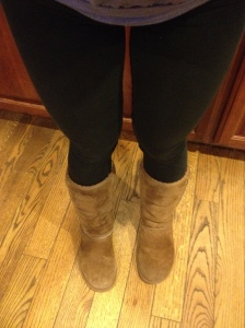 Like I said, clothing- bring out the leggings and UGGs. I can also wear compression gear and no one will know.