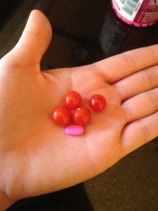 That's a benadryl for size reference