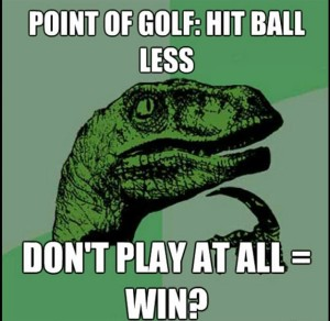 How  much I know about golf