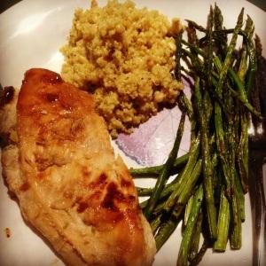 chicken asparagus quinoa