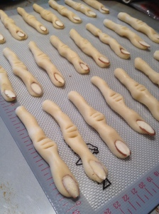 halloween cookies witch's fingers