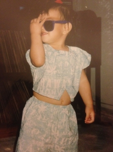 Workin' the crop top before it was cool
