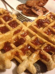 And my pre-race dinner lol. I love me some waffles.