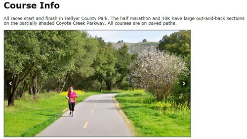 The course seems really scenic...plus it's close to my aunt and uncle's house. *cough cough can i stay on your couch?