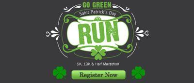 go green saint patrick's day half marathon