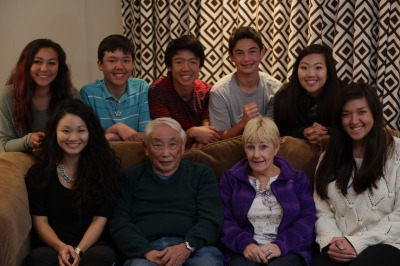 Cousins with the grandparents