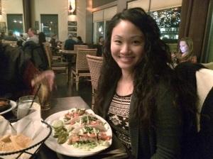 amy birthday dinner fish tacos