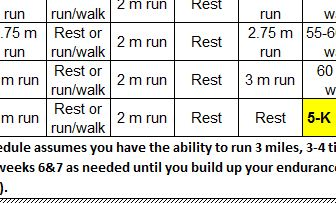 half marathon schedule annie
