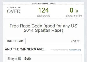 spartan race giveaway winner