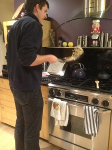 kyle cooking tacos