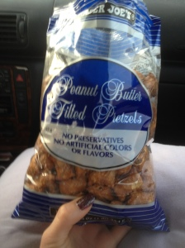 snacks road trip peanut butter pretzels