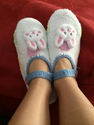 slipper socks spring bunny