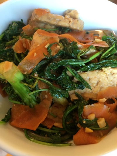 dinner vegan tempeh