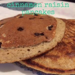 Cinnamon raisin pancakes