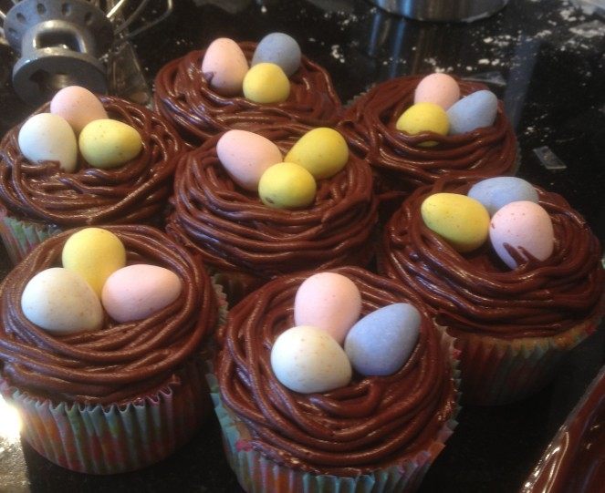 birds nest cupcakes dessert easter