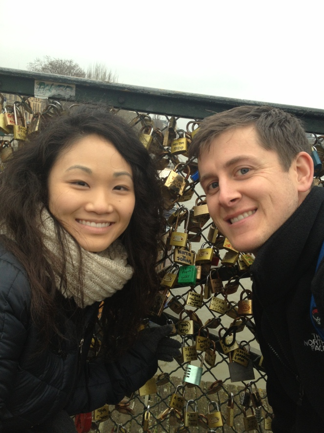 paris europe lock bridge