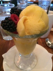 dessert mango sorbet