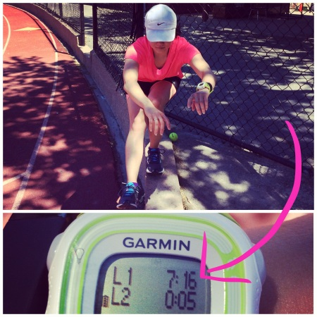 track timed mile pistol squats garmin