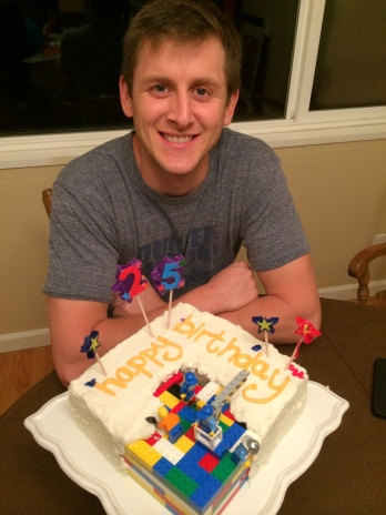 kyle 25th birthday lego cake