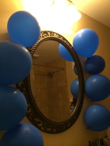 kyle 25th birthday balloons