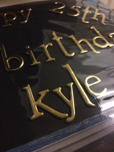 kyle 25th birthday scrapbook