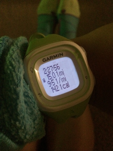 15 mile run garmin